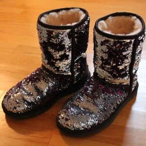 Classic Ugg Women's Sparkle Sequin Boot - Size 5